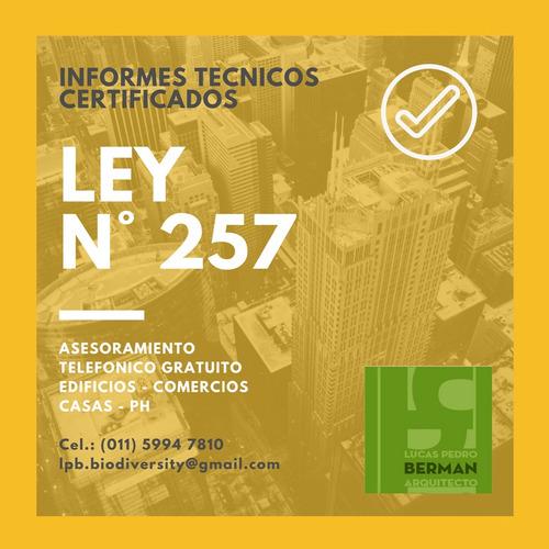 certificados ley n°257 / 6116 - precio mas económico!