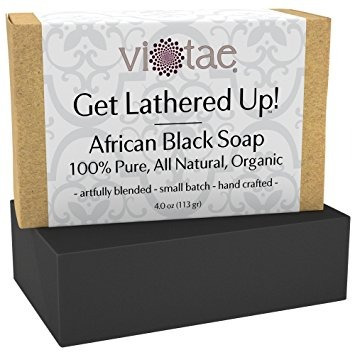 certified organic africano negro jabón - by vi-tae