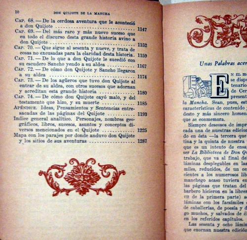 cervantes saavedra don quijote de la mancha 2 tomos 1947