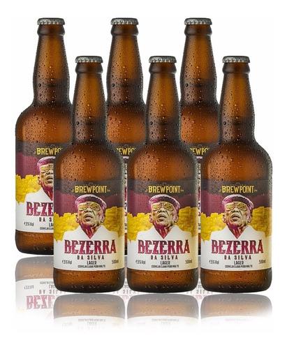 cerveja artesanal brewpoint bezerra da silva - kit 6 gar.