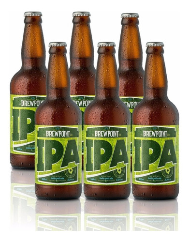 cerveja artesanal brewpoint ipa 500ml - kit 6 garrafas.
