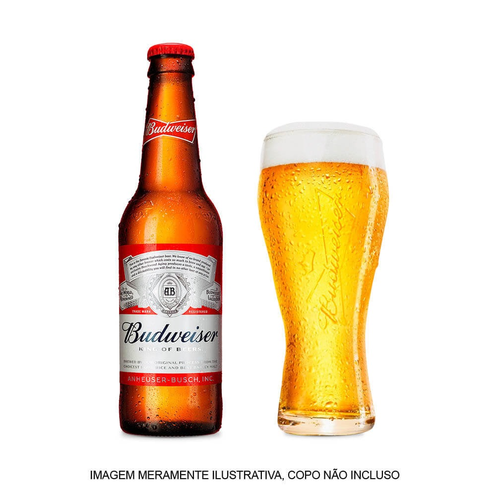 71cd57eb03ac2 Cerveja Budweiser 343ml - Pack Com 6 Unidades - R  19,14 em Mercado ...