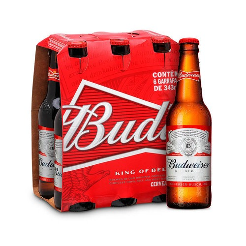 Cerveja Budweiser 343ml - Pack Com 6 Unidades - R  19,14 em Mercado Livre 626ceaeb82