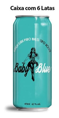 cerveja cachorrão sem dente baby blue caixa c/ 6 latas 473 m