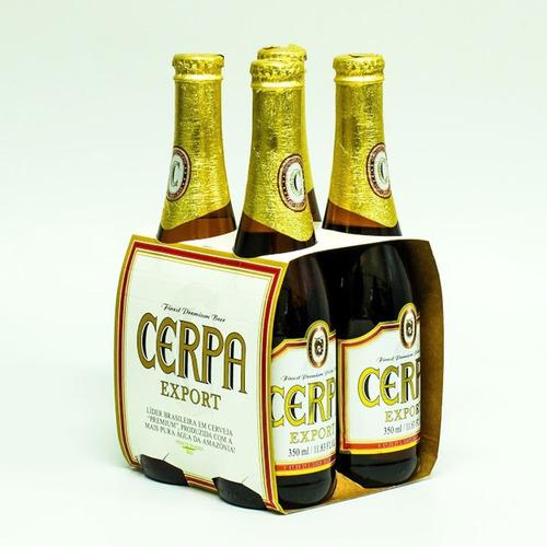 cerveja cerpa export 350ml kit 16 unidades