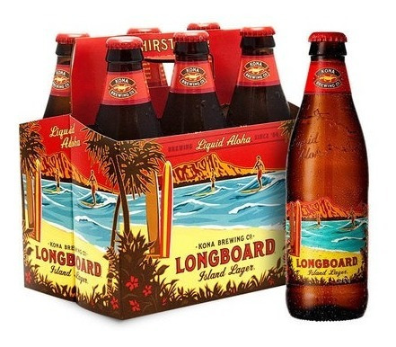 cerveja kona longboard long neck 355ml caixa com 6 unidades