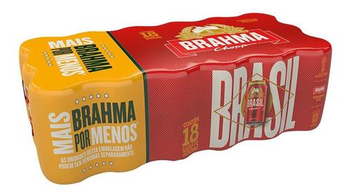 cerveja pilsen brahma chopp pack com 18 unidades de 350ml