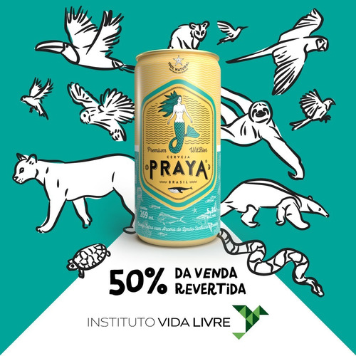 cerveja praya lata (12 unidades) instituto vida livre