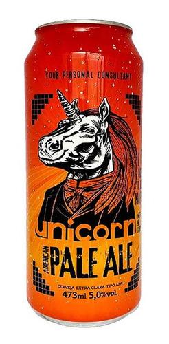 cerveja unicorn american pale ale lata 473 ml