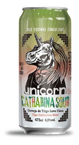 cerveja unicorn catharina sour caixa c/ 6 latas 473 ml