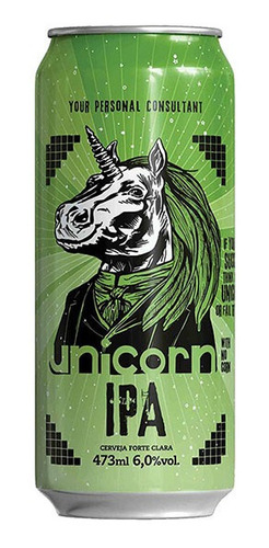 cerveja unicorn ipa caixa c/ 6 latas 473 ml