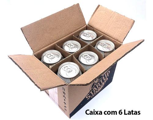 cerveja ux brew double quarantine caixa c/ 6 latas 473 ml