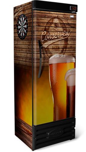 cervejeira refrigerador geladeira cerveja 400l marrom 220v