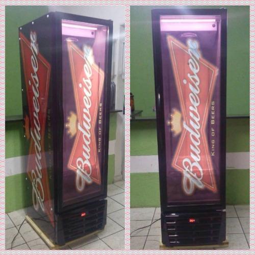 cervejeira slim budweiser 370 lts temp. -5° - garantia 1 ano