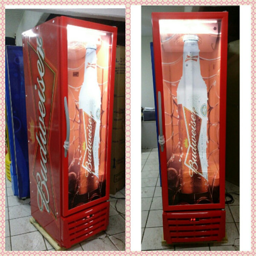 cervejeira slim polofrio adesivada budweiser 370 lts