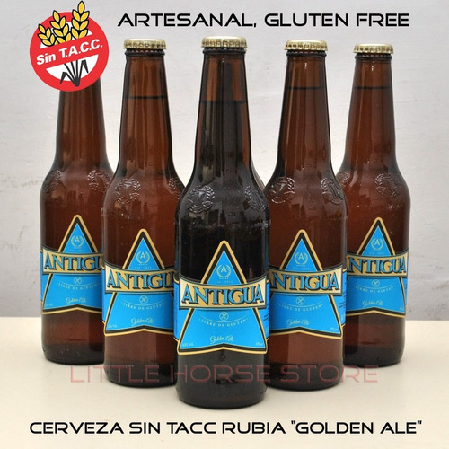 cerveza antigua gluten free sin tacc 355 cm3 x unidad