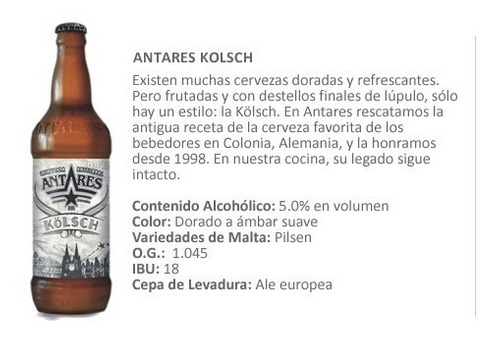 cerveza artesanal antares  - kolsch x und- nuñez