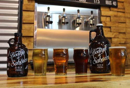 cerveza artesanal en botellón growler 1.0 lts (recargable)