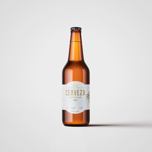 cerveza artesanal goodfellas imported stout botella 500ml