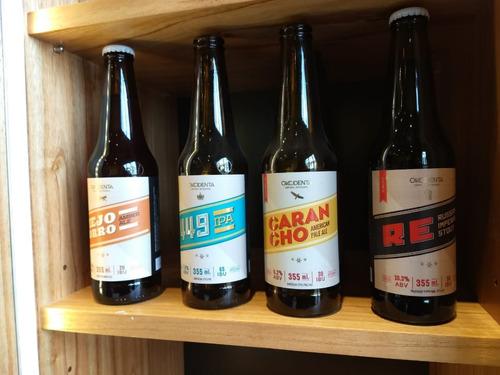 cerveza artesanal okcidenta- imperial stout pack x 24- nuñez