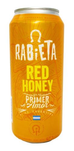 cerveza artesanal rabieta red honey lata 473ml 01almacen