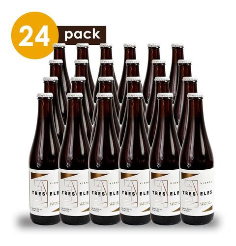 cerveza artesanal tres eles vienna cervexxa ahorra pack 24