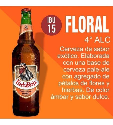 cerveza barba roja 330ml limon / orange / honey / floral etc