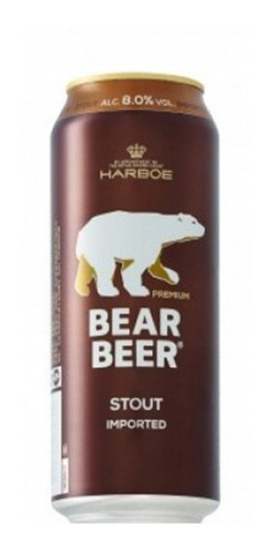cerveza bear beer strong stout x 500 ml pack x 3 latas 8%