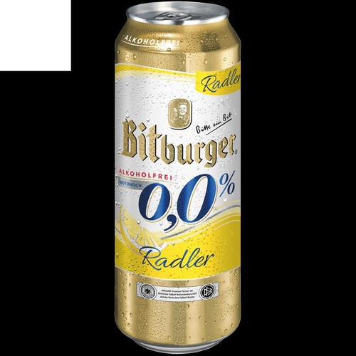 cerveza bitburger 0,0% radler, la sin alcohol con limon 2 u