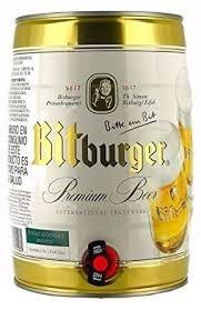cerveza bitburger barril de 5 litros - mayorista avellaneda
