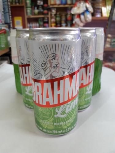 cerveza brahma lima, lime lata 269 ml 3,5 vol alcohol