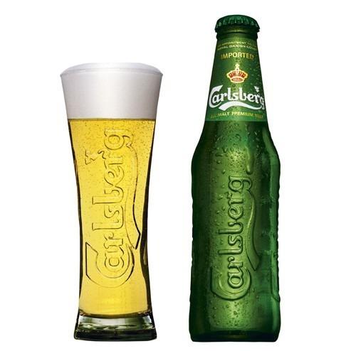 cerveza carlsberg imp. de dinamarca x 330 cc. nuevo envase