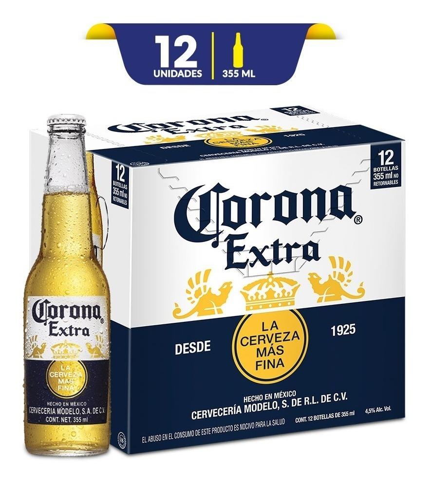 precio de carton de cerveza corona 1/2