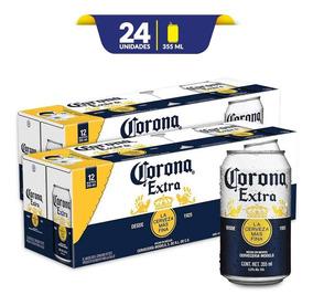 6adb8aa16c4 Cerveza Clara Corona Extra, 2x 12 Pack Lata De 355ml
