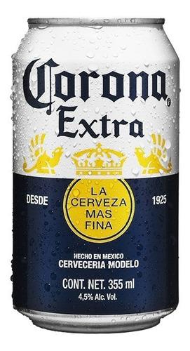 cerveza clara corona extra, 2x 12 pack lata de 355ml