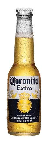 cerveza clara coronita extra 24 botellas de 210ml c/u