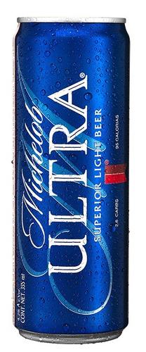 cerveza clara michelob ultra, 24 latas de 355ml c/u