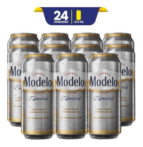 cerveza clara modelo especial 24 latas de 473ml c/u