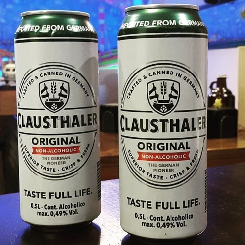 cerveza clausthaler original sin alcohol lata 500 ml