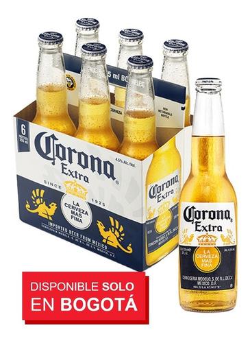 cerveza corona extra, 24 botella 355 ml - ml a $10