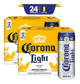 f279b6b2a83 Cerveza Corona Light, 2x 12pack Lata 355ml C/u