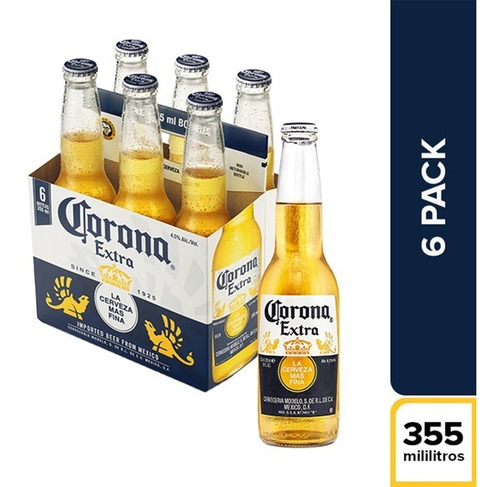 cerveza corona porron, por unidad botella 355cc x mayor