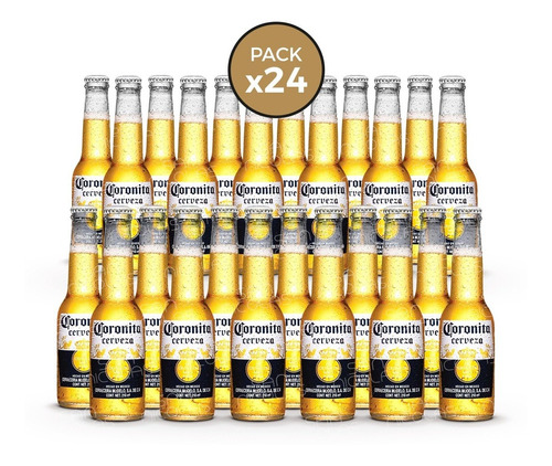 cerveza coronita 210 ml pack x 24 unidades