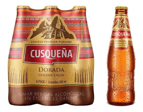 cerveza cusqueña golden / red lager 330ml peru
