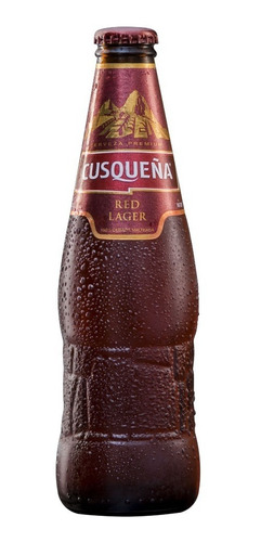 cerveza cusqueña red lager botella 330 ml importada pack x 6