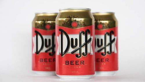 cerveza duff beer homero los simpsons importada pack x 3