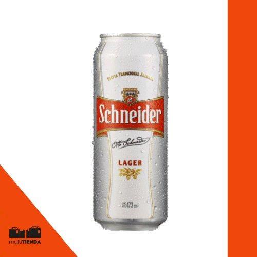 cerveza en lata schneider 473cc x 6 unidades