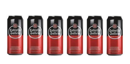 cerveza estrella galicia pack x 6 latas 500ml. oferta!
