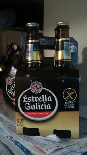 cerveza free gluten estrella de galicia ,importada españa