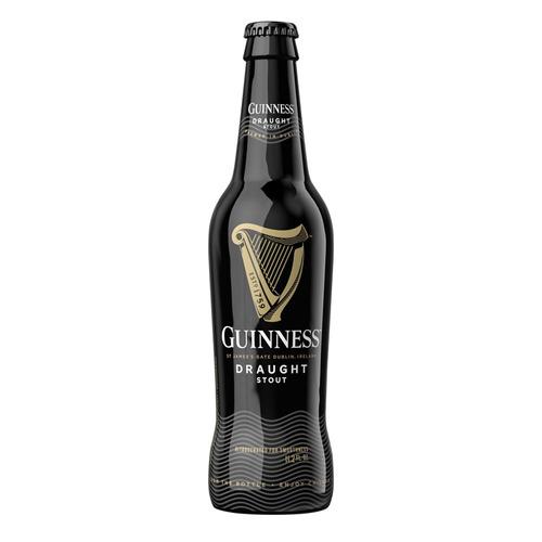 cerveza guinness draught botella de 24 pack  330ml c/u